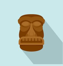 hawaii idol icon flat style vector image