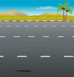 Highway background vector