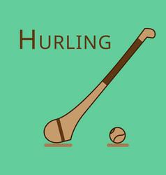 Hurling game irish hurling hurley and vector