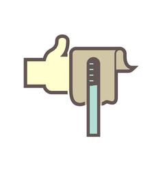 lubricant check icon vector image