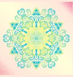 Mandala floral vintage round amulet tatoo vector
