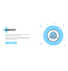market icon banner outline template concept vector image