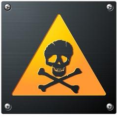 metal grunge skull sign vector image vector image