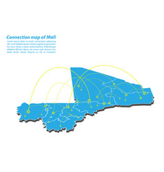 Modern of mali map connections network design vector