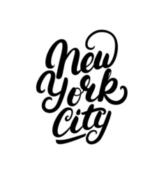 New York City hand written lettering vector image