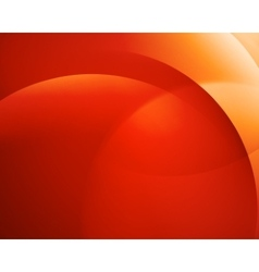 Orange smooth twist light bright wave lines vector image