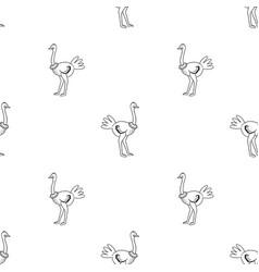 Ostrich pattern vector