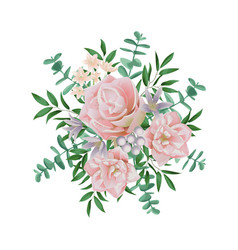 Pink flower bouquet vector