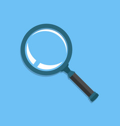 Realistic loupe sign icon in flat style magnifier vector
