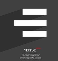 Right-aligned icon symbol Flat modern web design vector