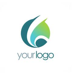 Round globe loop logo vector