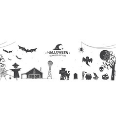 seamless pattern for halloween celebration vector image