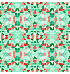 seamless pattern mosaic with green pieces vector image