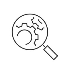 search engine optimization line icon on white vector image