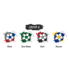 set of national football team group a vector image