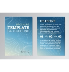 Set of poster brochure design templates in blue vector