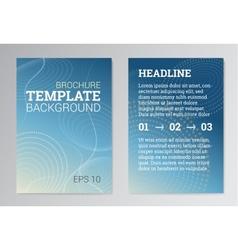 set poster brochure design templates in blue vector image