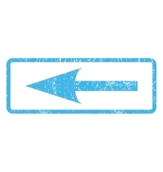 Sharp Arrow Left Icon Rubber Stamp vector