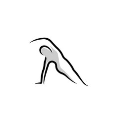 silhouette for gymnastic activity perfect for vector image