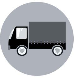 silhouette of black transportation van vector image