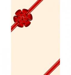 silk ribbon vector image