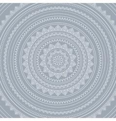 Silver mandala vector