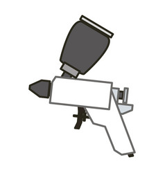 spray paint gun vector image