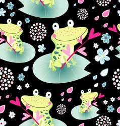 texture love frogs vector image