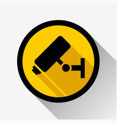 Video surveillance icon vector