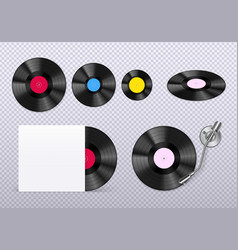 Vinyl realistic transparent vector