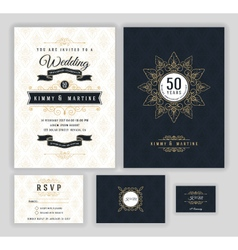 Wedding anniversary celebration party invitation vector