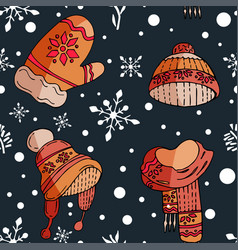 winter holiday january pattern vector image