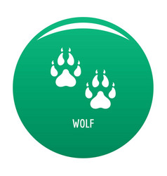 wolf step icon green vector image