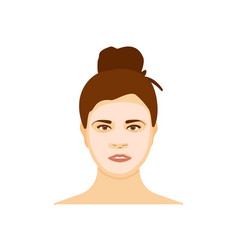 woman with mousturizing mask on her face isolated vector image