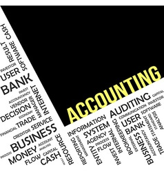 word cloud accounting vector image