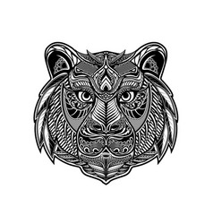 Zentangle tiger vector