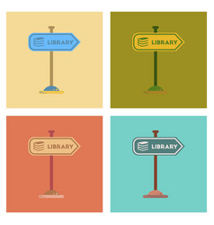 Assembly flat icons sign library vector