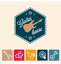 Guitar house vector