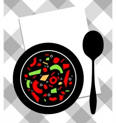 soup on plate vector image