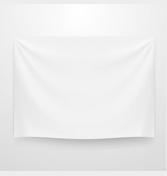 White clear textile banner template vector