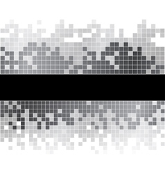 Abstract background with black and white pixels vector image vector image