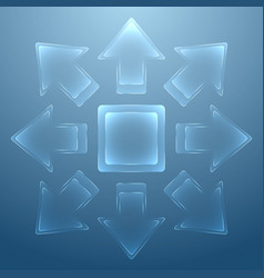 abstract background with glass arrows vector image