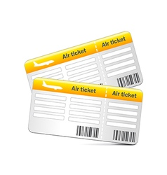 Air tickets isolated on white vector image