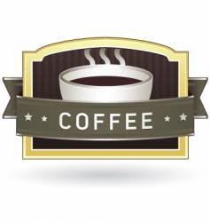coffee package label vector image vector image