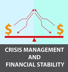 Crisis management background vector image