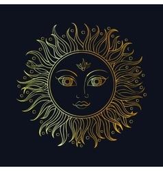 ethnic sun ornament vector image vector image