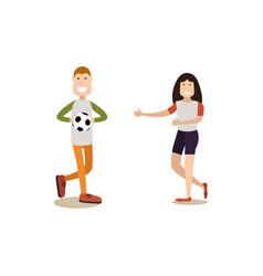 happy children in flat style vector image