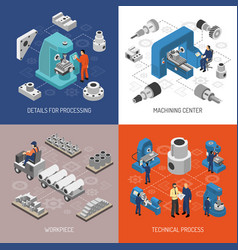 heavy industry isometric design concept vector image