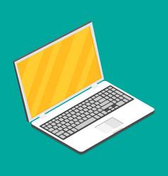 laptop isometric icon vector image vector image