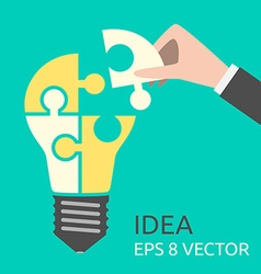 Missing puzzle for lightbulb vector image vector image